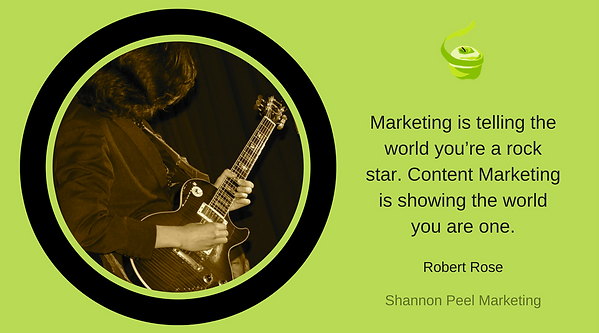 Marketing quote Robert Rose content tip
