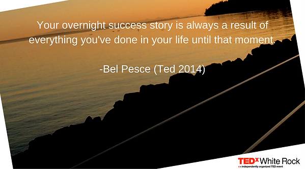 Ted Talk quote Bel Pesce success motivation