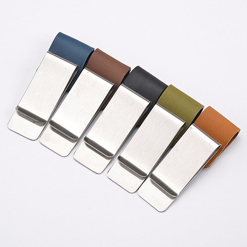 Genuine Leather Metal Pen Holder for Journals