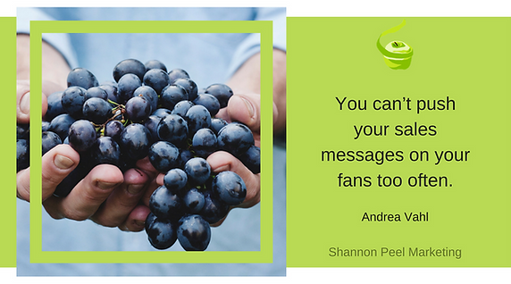 Marketing quote andrea vahl know your customer push sales