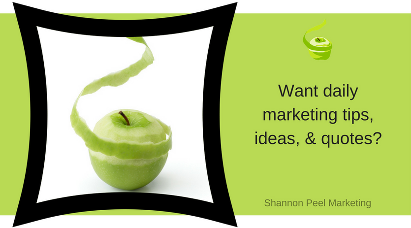 Marketing tips, ideas & quotes
