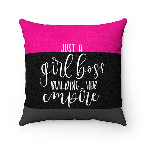 Business Woman's Faux Suede Square Pillow