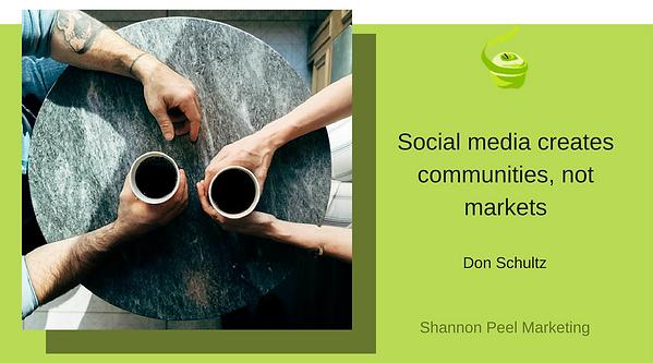 Social Media Marketing Quote Don Schultz