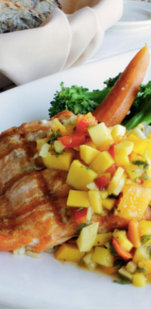 BC Salmon with Mango Salsa