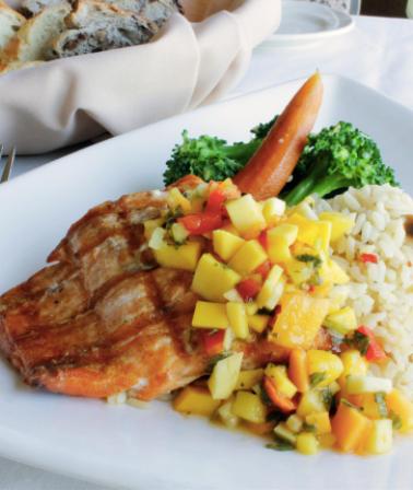 BC Salmon with Mango Salsa