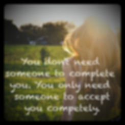 Motivational quote acceptance love