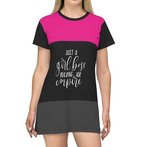 Business Woman T-Shirt Dress