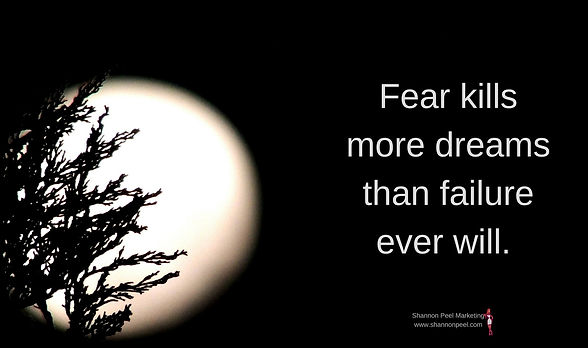 Motivation quote fear kills dream