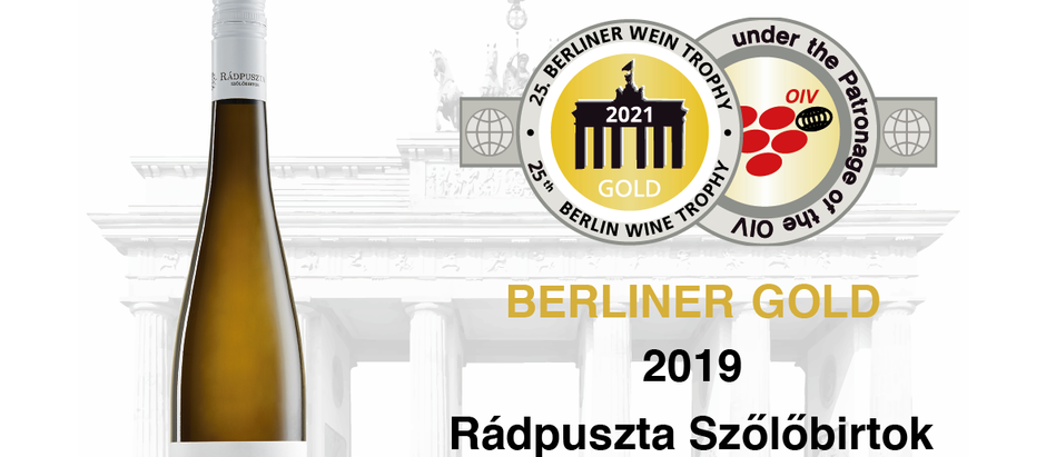 Aranyérmes Pinot Gris a Berliner Wine Trophy-n!