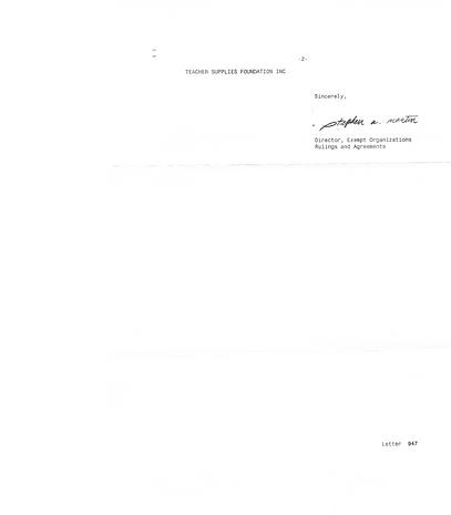 2019-03-14  TSF 501 (c)3  det.ltr. p. Im