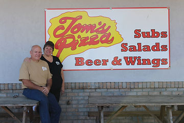 Lloyd Petro and wife Lana owners of Tom's Pizza.
