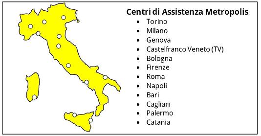 Centri di Assistenza Metropolis