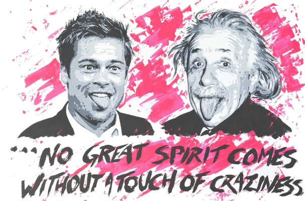 Brad Pitt et Albert Einstein
