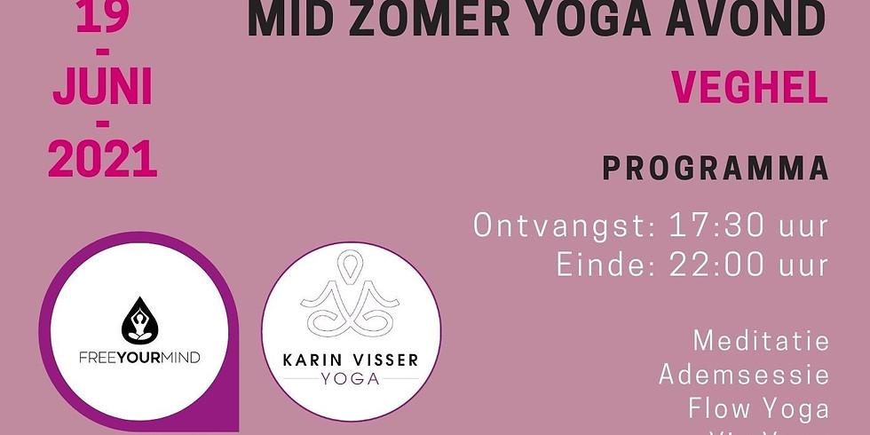 Mid Zomer Yoga Avond - 2e editie - Bestel tickets op: https://www.karinvisseryoga.nl/midzomeryoga/