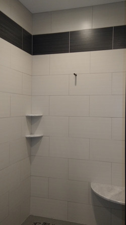 New local custom built shower! Check out
