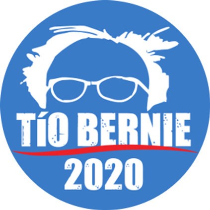 Tío Bernie 2020 (white on blue) (210d)