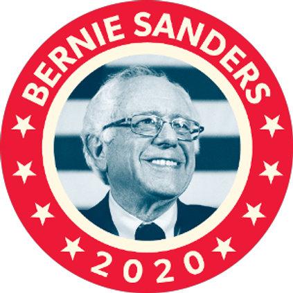 Bernie Sanders 2020 B&W photo w/red border (212g)