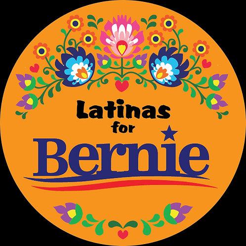Latinas for Bernie (orange bkgrd) (216c)