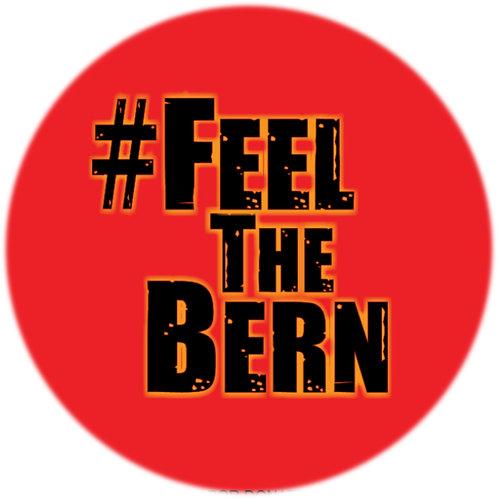 #FeelTheBern (black on red) (201c)