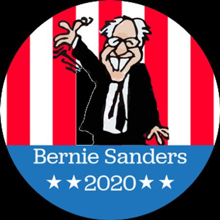 Waving Bernie Cartoon (201a)
