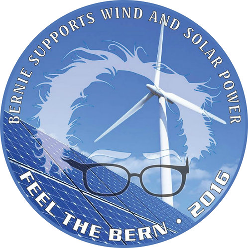 Bernie Supports Wind and Solar Power (design by Gary Gilbert) (356b)