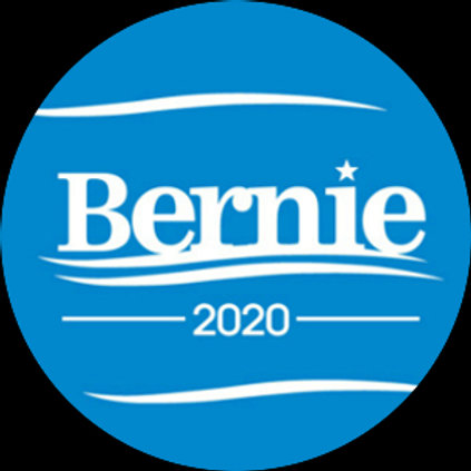Bernie 2020 (white on blue) (201h)