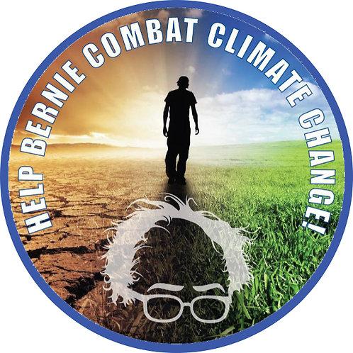 Help Bernie Combat Climate Change (design by Gary Gilbert) (353a)