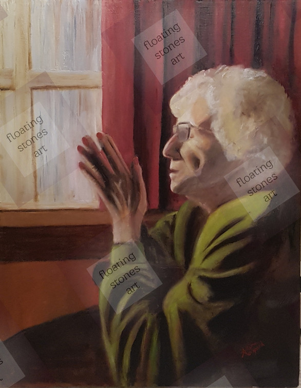 """Leona"" Oil on Canvas Portrait"