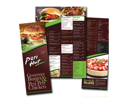 About A4 Menu or Leaflets