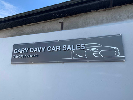 Silver Metallic Effect 3D Signage