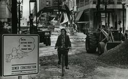1970s Portland work zone