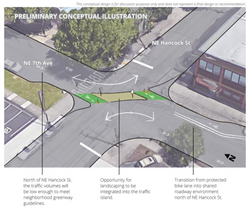 proposed traffic diverter