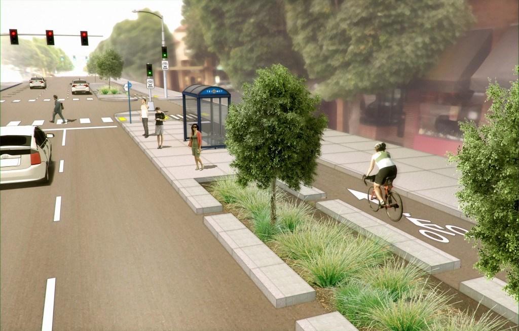 NE Broadway cycletrack