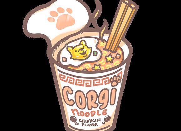 Corgi Noodle sticker