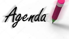 Agenda & Cue Sheet