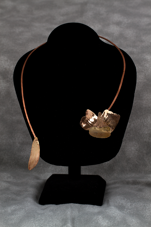 Bronze Orchid Necklace