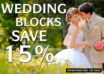 2019-20 WEDDING BLOCKS SAVE 15% 1400X100