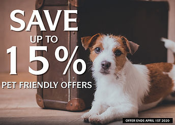 2019 SAVE UP TO 15% PET FRIENDLY 1400X10