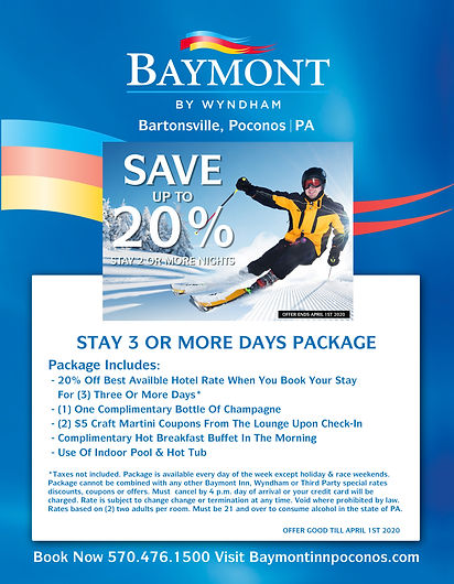 BAYMONT 2019STAY 3 OR MORE NIGHTS PACKAG