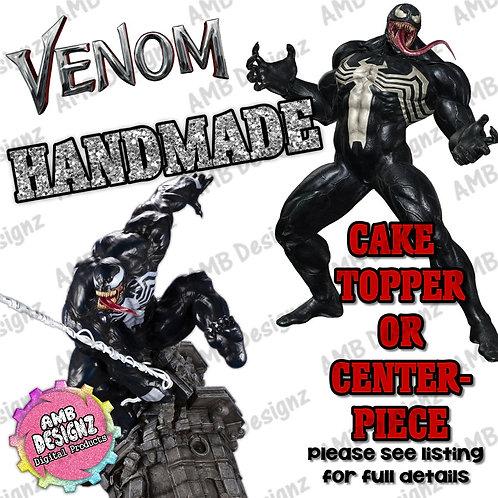 Venom Cake Topper Centerpiece