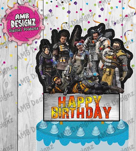 Apex Legends Cake Topper - Apex Legends Party Supplies