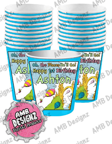 Oh, the Places You'll Go Party Cups - Oh, the Places You'll Go Party Supplies