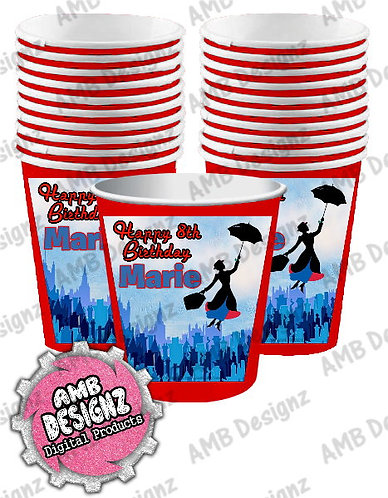 Mary Poppins Party Cups Mary Poppins Party Supplies
