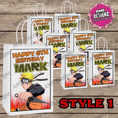 Naruto Favor Bag Label Party Supplies - Naruto Party Supplies