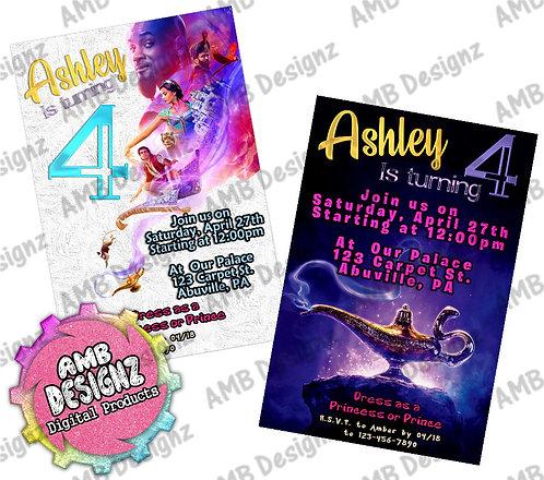 Aladdin Invitations - Aladdin Party Supplies