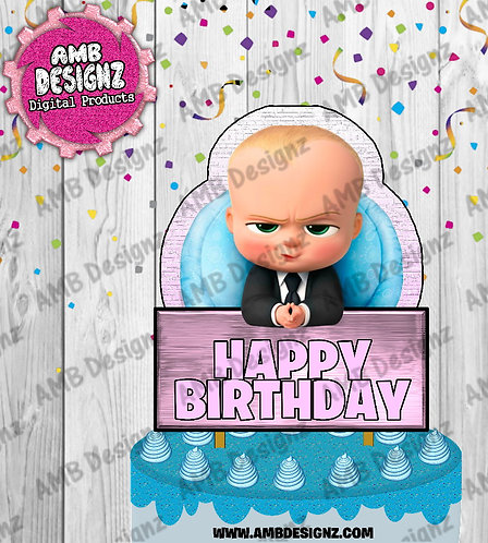 Boss Baby Cake Topper Centerpiece - Boss Baby Party Supplies