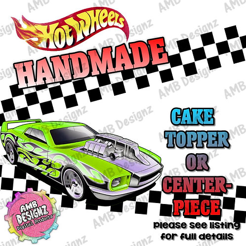 Hot Wheels Cake Topper Centerpiece
