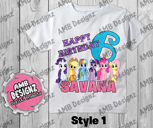 My Little Pony T-Shirt Birthday Image - My Little Pony Party Supplies