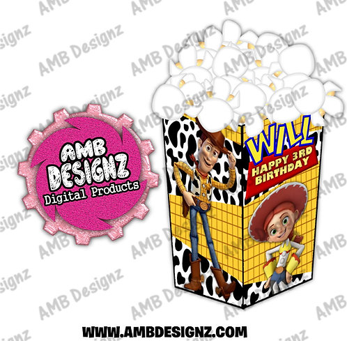 Toy Story Popcorn Box Favor - Toy Story Party Supplies