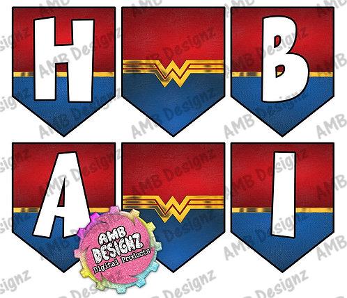 Wonder Women Party Banner 1 -  Wonder Women Party Supplies